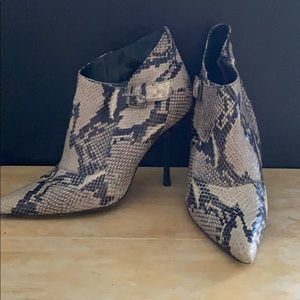 Charles David Snakeskin ankle boots